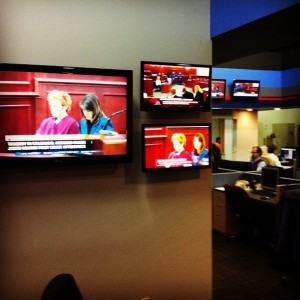 newsroom monitors